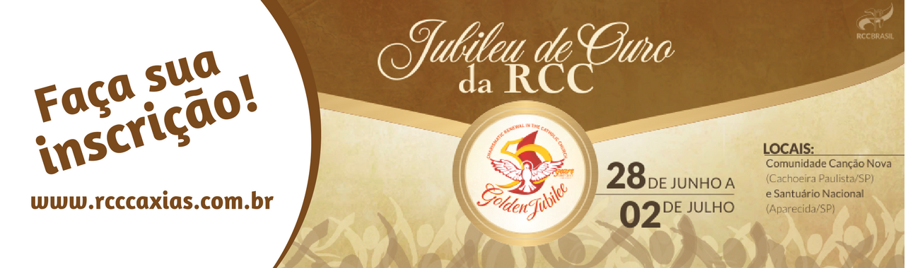 Inscrições para o Jubileu de Ouro da RCC